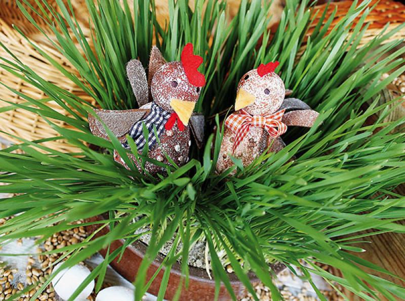 Veľkonočné dekorácie - sliepočky