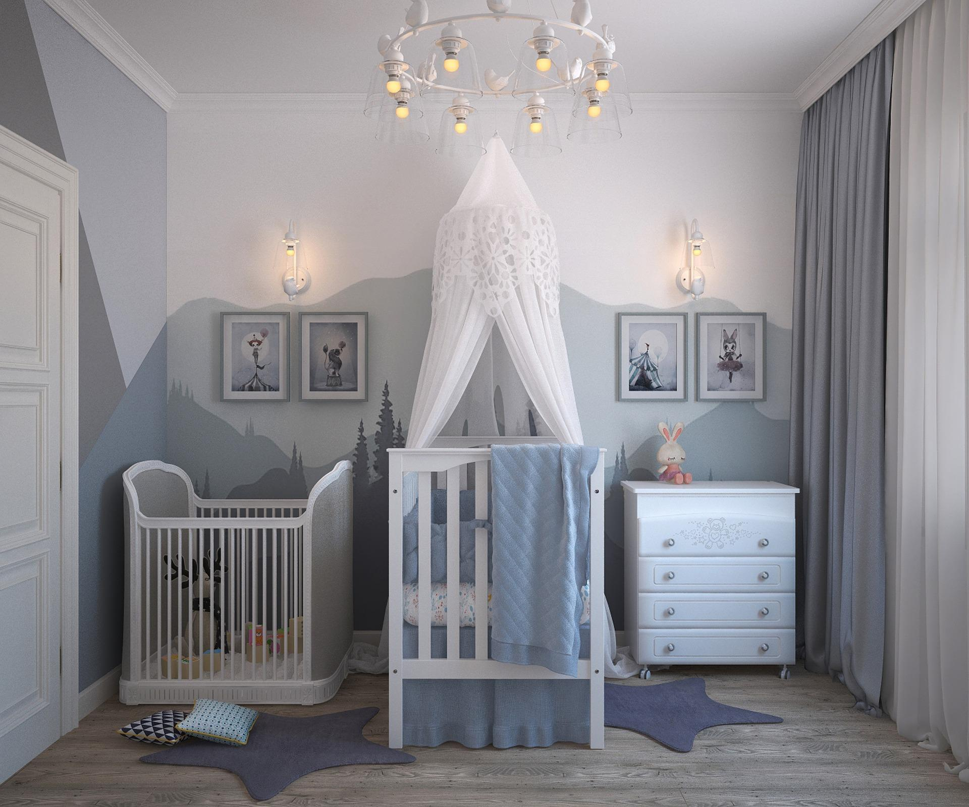 Detská izba v romantickom štýle
