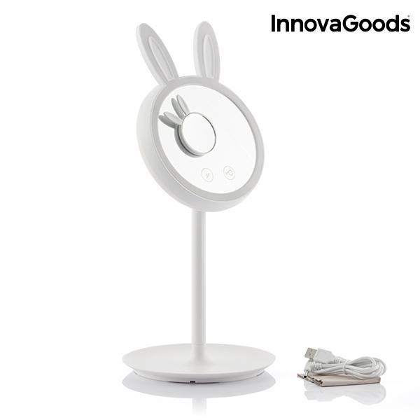 2-v-1 zrkadlová lampa Mirrobbit LED InnovaGoods make-up
