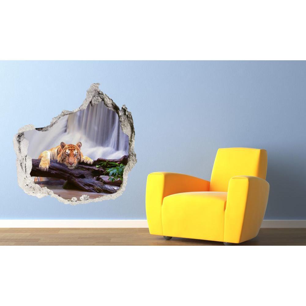 3D fototapeta, Tiger pri vodopáde, 100 x100cm