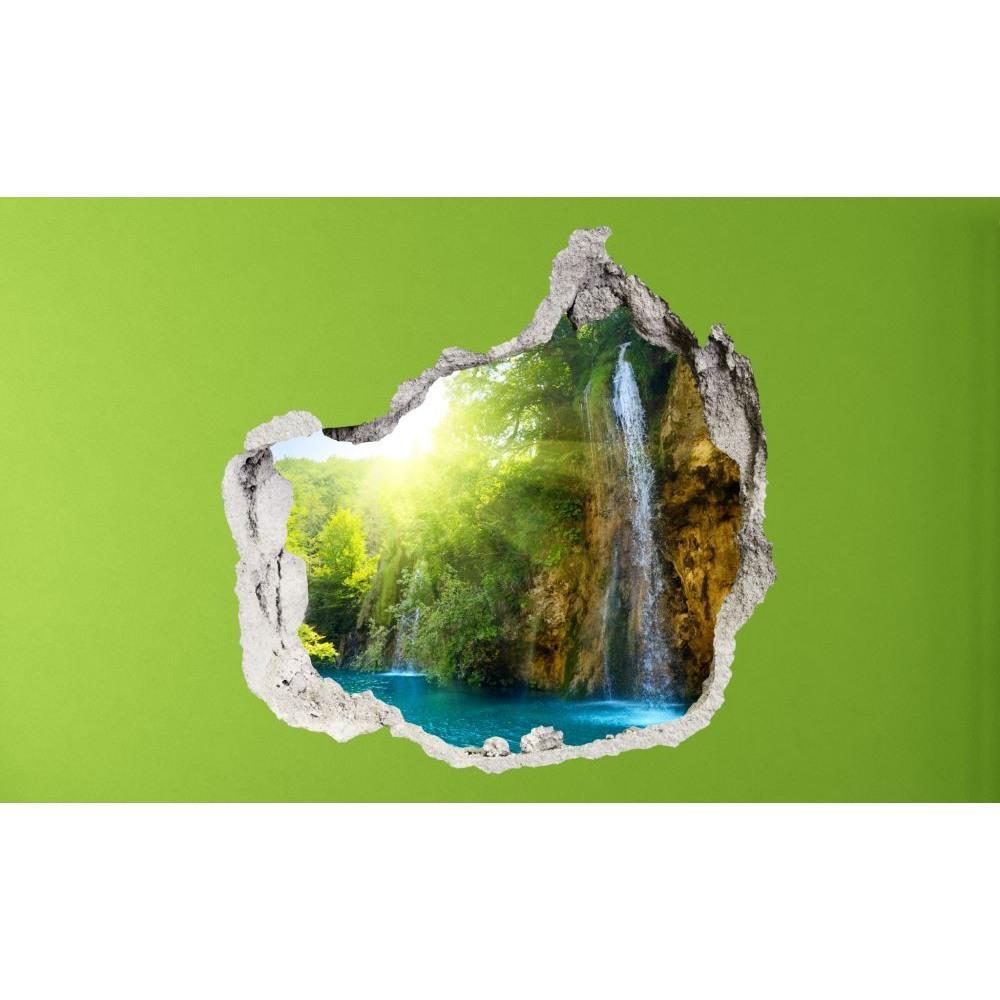 3D fototapeta, Vodopády 2, 100 x100cm
