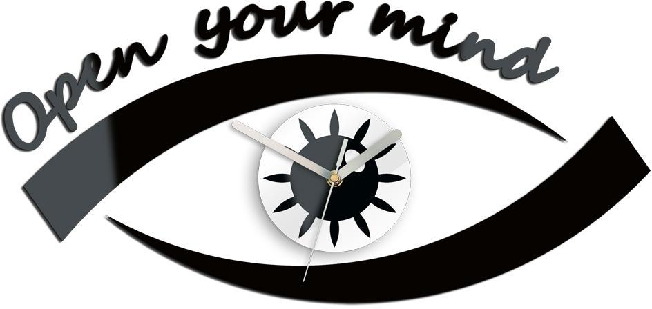3D nalepovacie hodiny Eye čierne