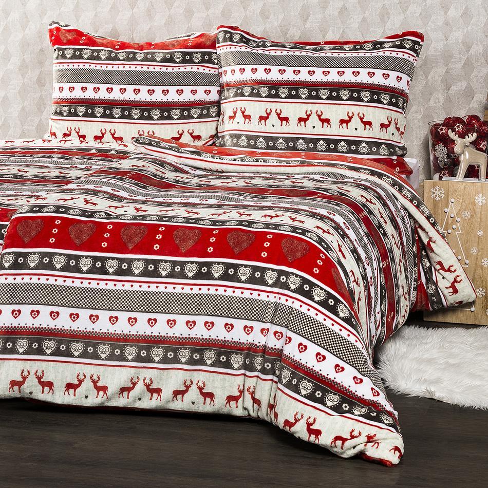 4Home Vianočné obliečky mikroflanel Winter, 140 x 200 cm, 70 x 90 cm