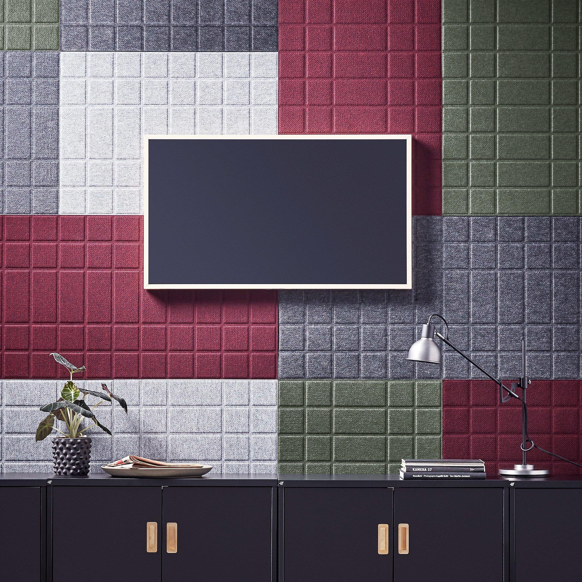 Akustický nástenný panel Split, 1600x600 mm, svetlošedý
