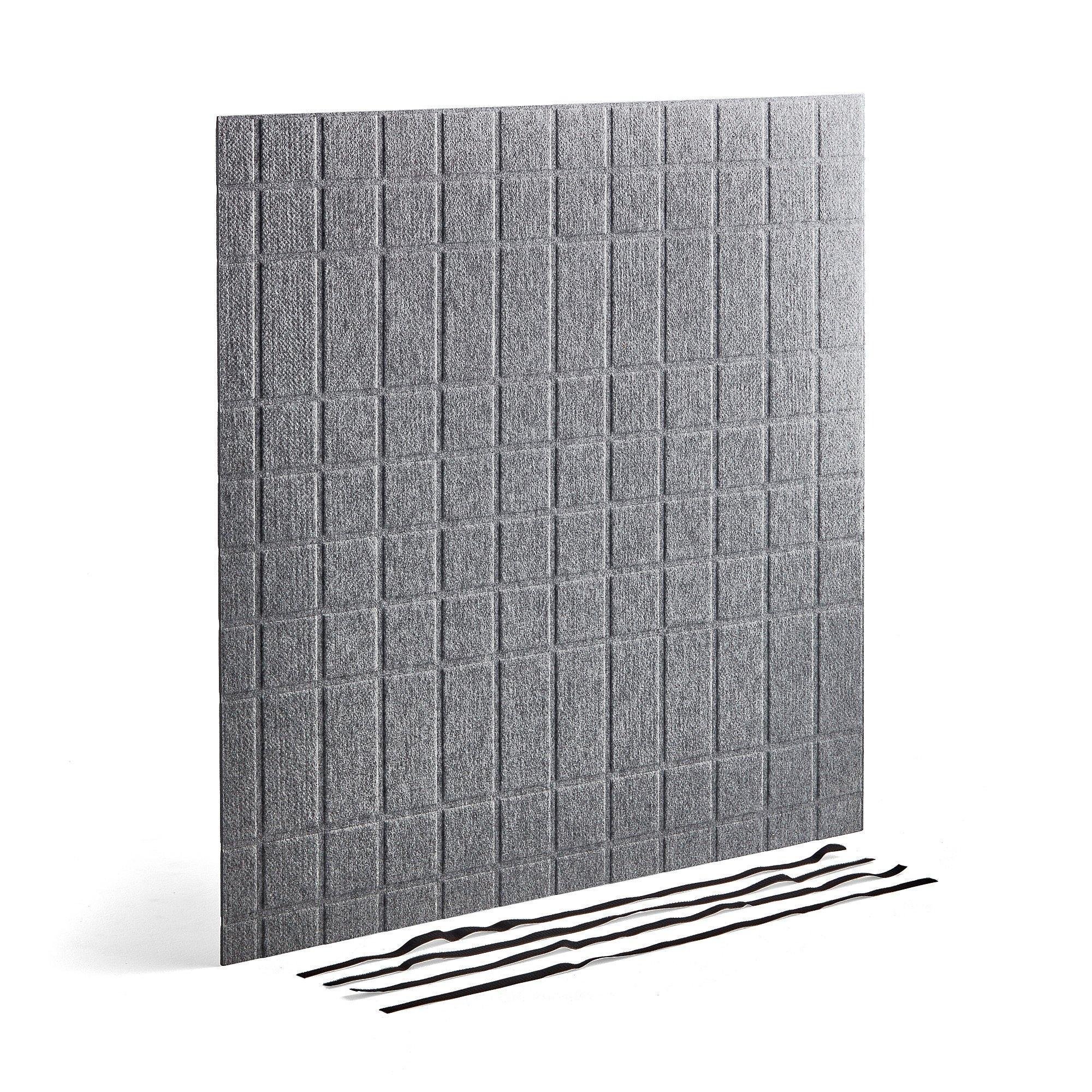 Akustický panel pre skriňu Modulus 1158x1158 mm, vrátane suchého zipsu, šedý