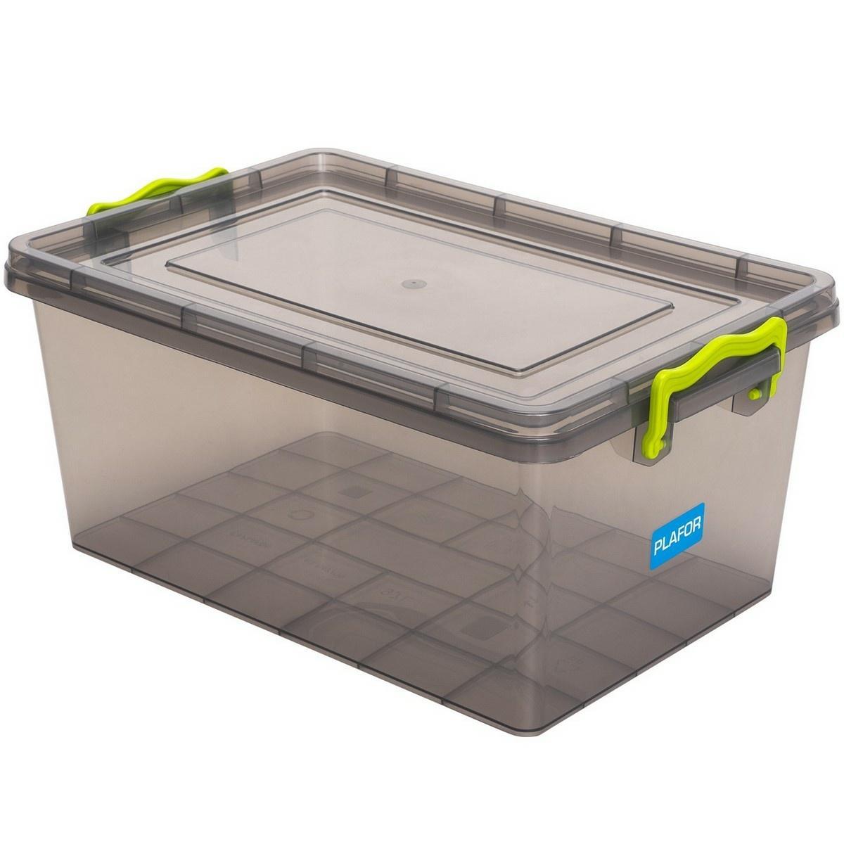 Plastový úložný box 9,2 l, sivá