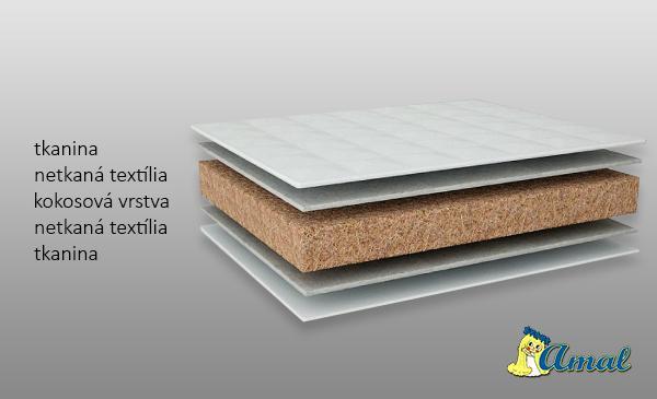 AMAL Matrac Kokos KOALA, hrúbka 6 cm, 120x60 cm