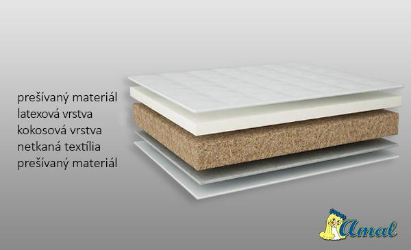 AMAL Matrac Latex- Kokos, hrúbka 10 cm, 120x60 cm