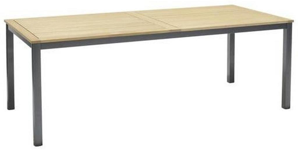 Ambia Garden ZÁHRADNÝ STÔL, drevo, kov, 206/90/74 cm - hnedá, tmavosivá
