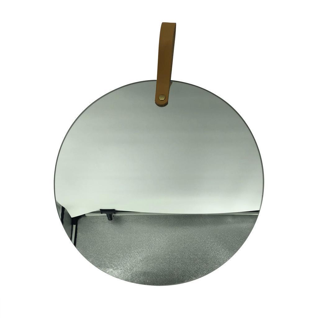 Ambia Home NÁSTENNÉ ZRKADLO, 30/41,5 cm - hnedá