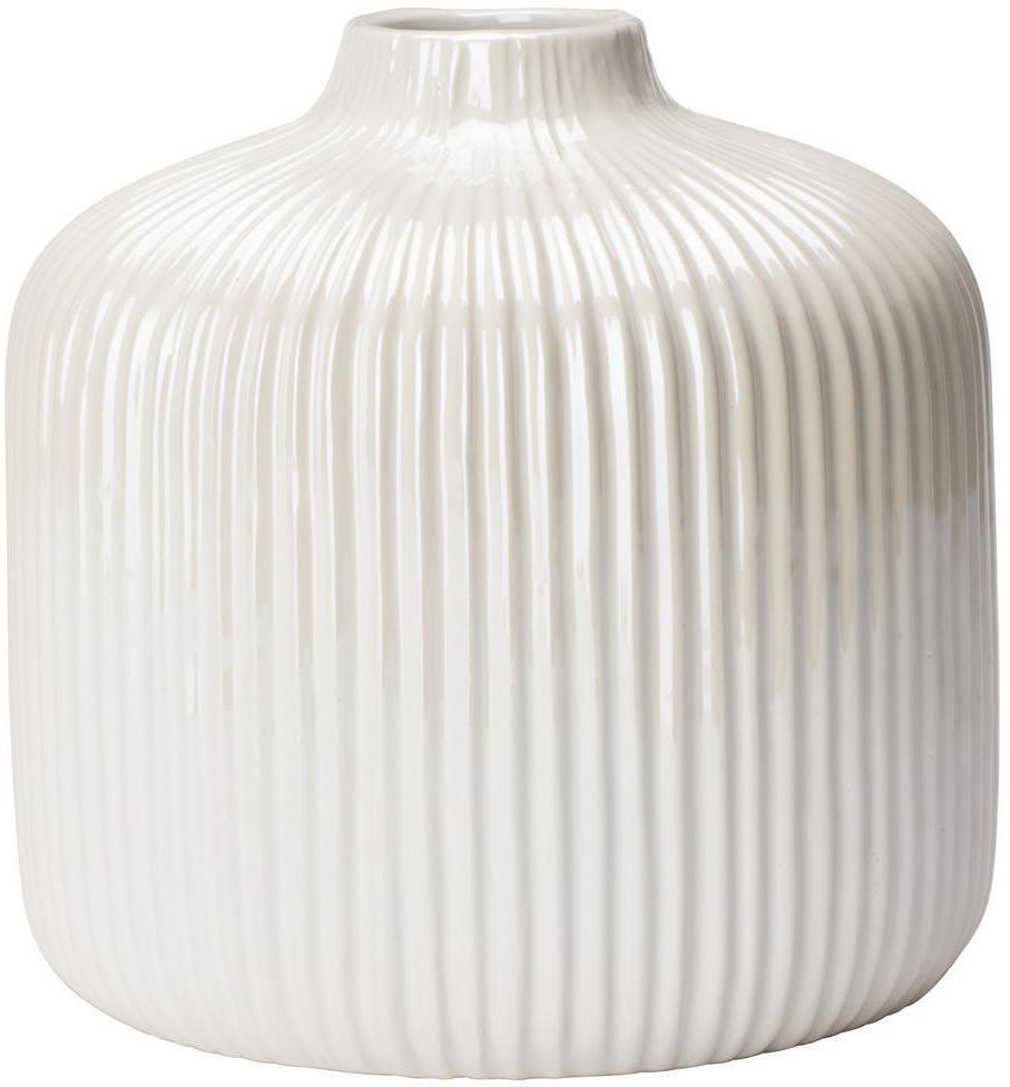 Ambia Home VÁZA, keramika, 16 cm - biela
