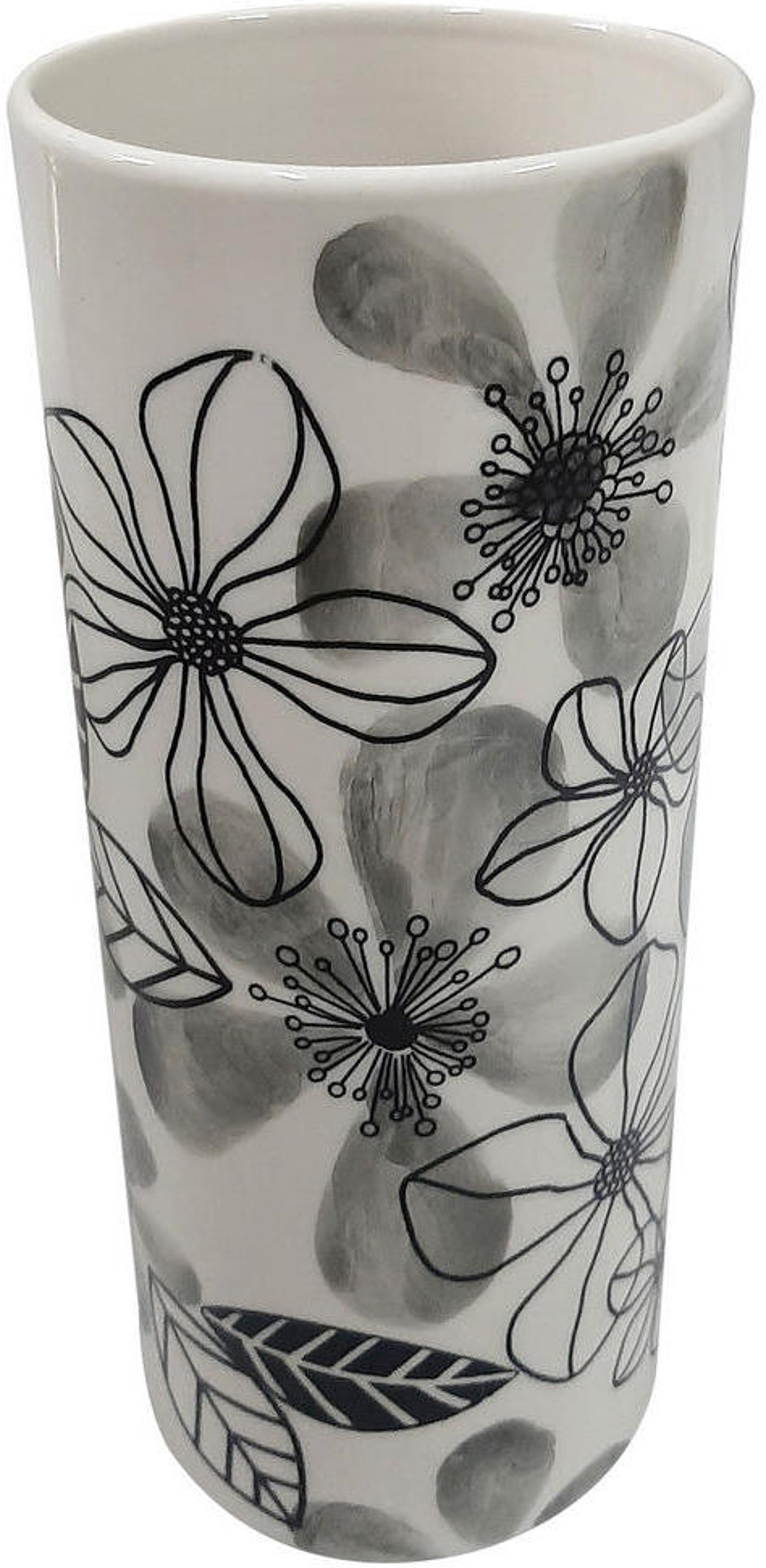 Ambia Home VÁZA, keramika, 19.5 cm - čierna, biela