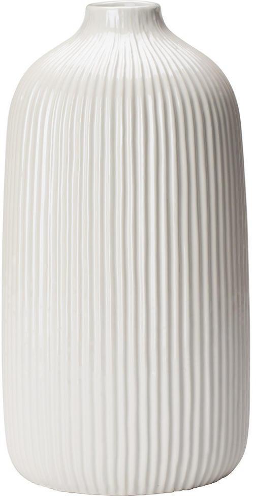 Ambia Home VÁZA, keramika, 25 cm - biela