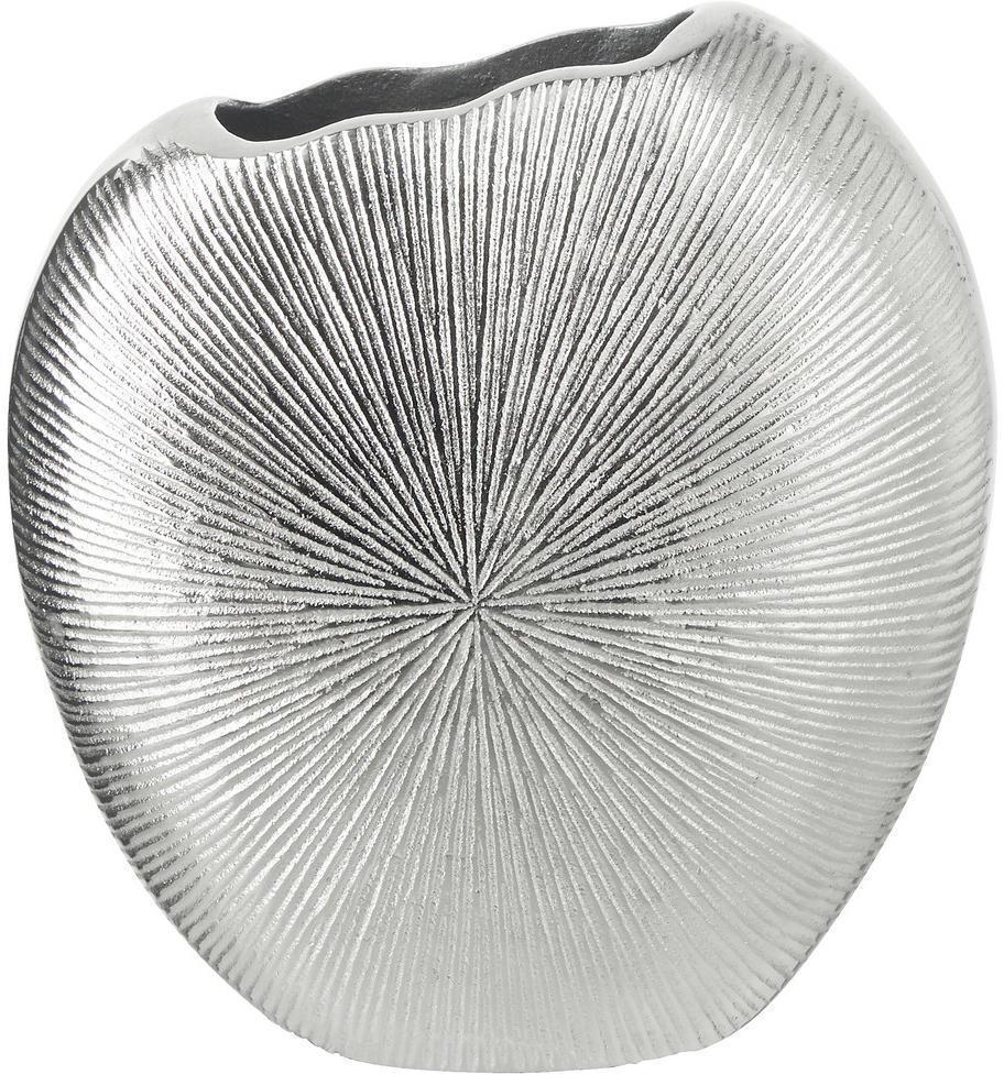 Ambia Home VÁZA, kov, 18 cm - strieborná