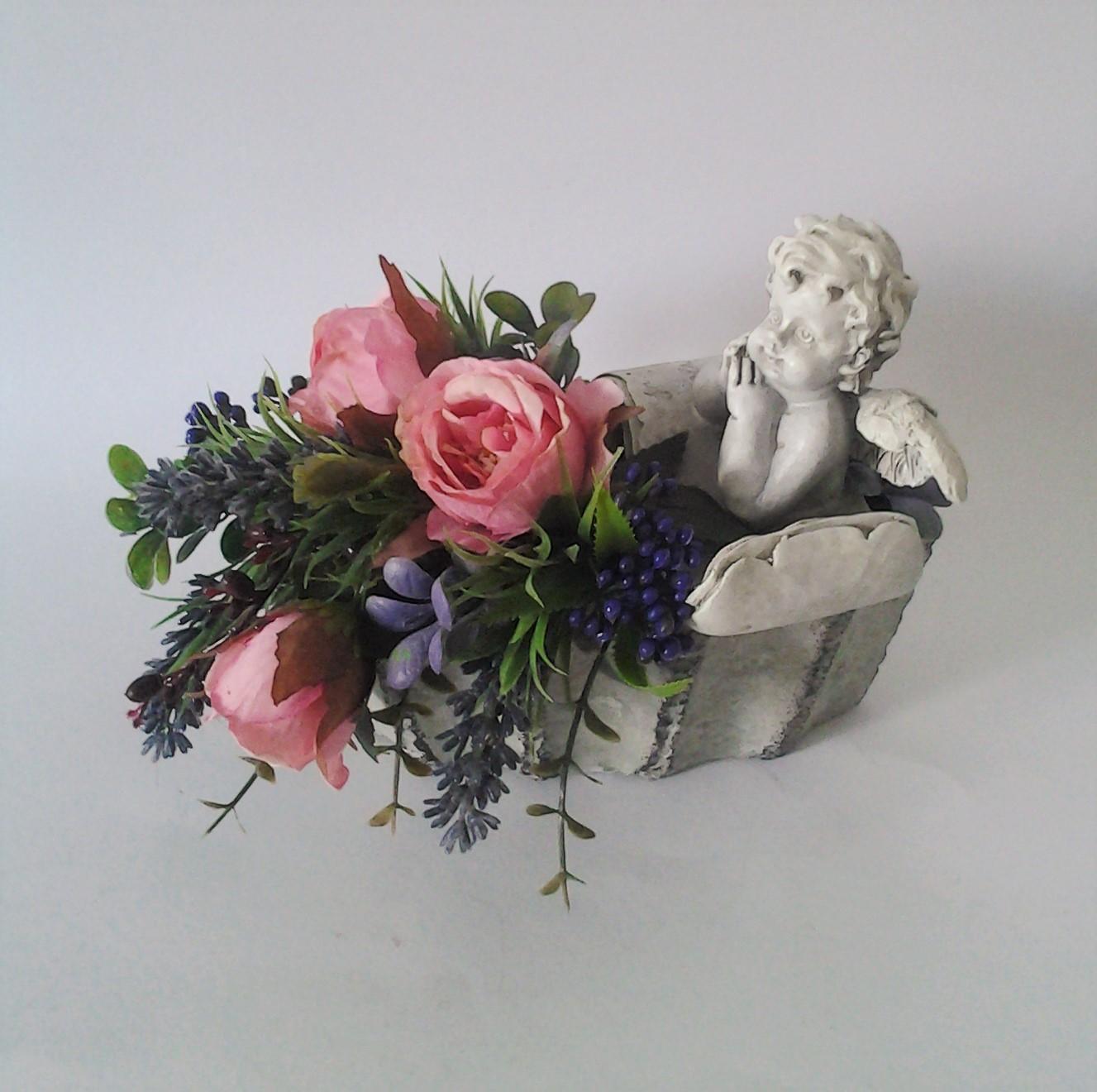 anjelska dekorácia 20 x 10 x 17 cm