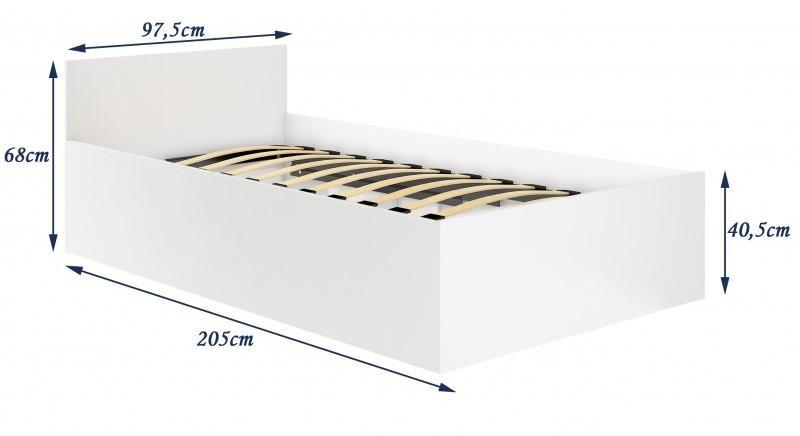 ArtAko Jednolôžková posteľ Clips 90x200 cm s roštom Farba: dub sonoma
