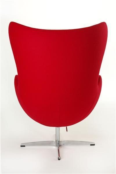 ArtD Kreslo JAJO inšpirované EGG kašmír Farba: Červená
