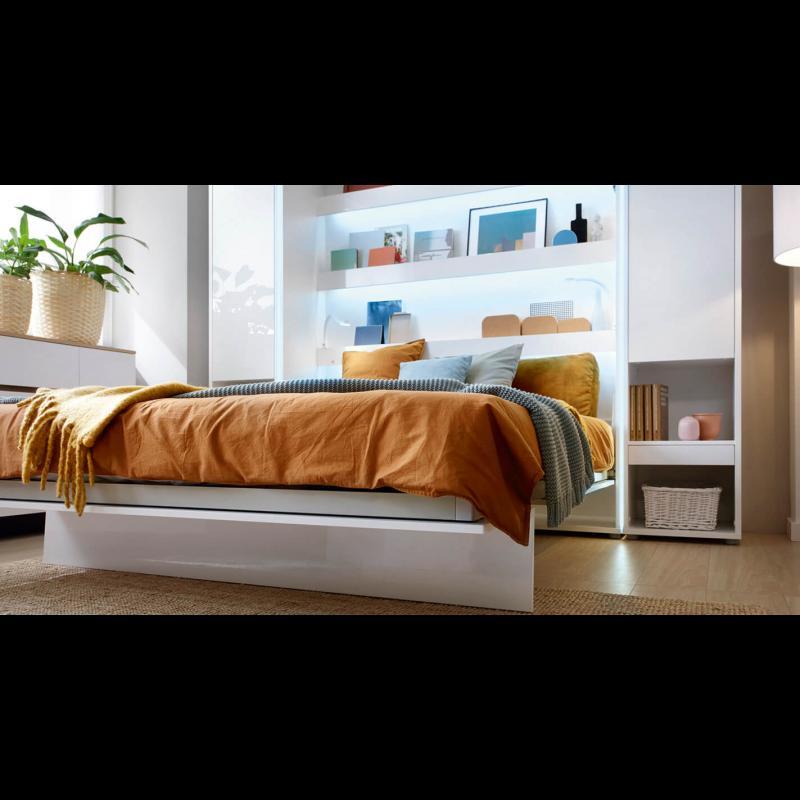 ArtDig Sklápacia posteľ Bet Notion BC-12 160x200 biela lesk