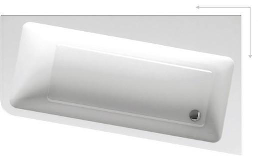 Asymetrická vaňa Ravak 10° 170x100 cm akrylát pravá C821000000