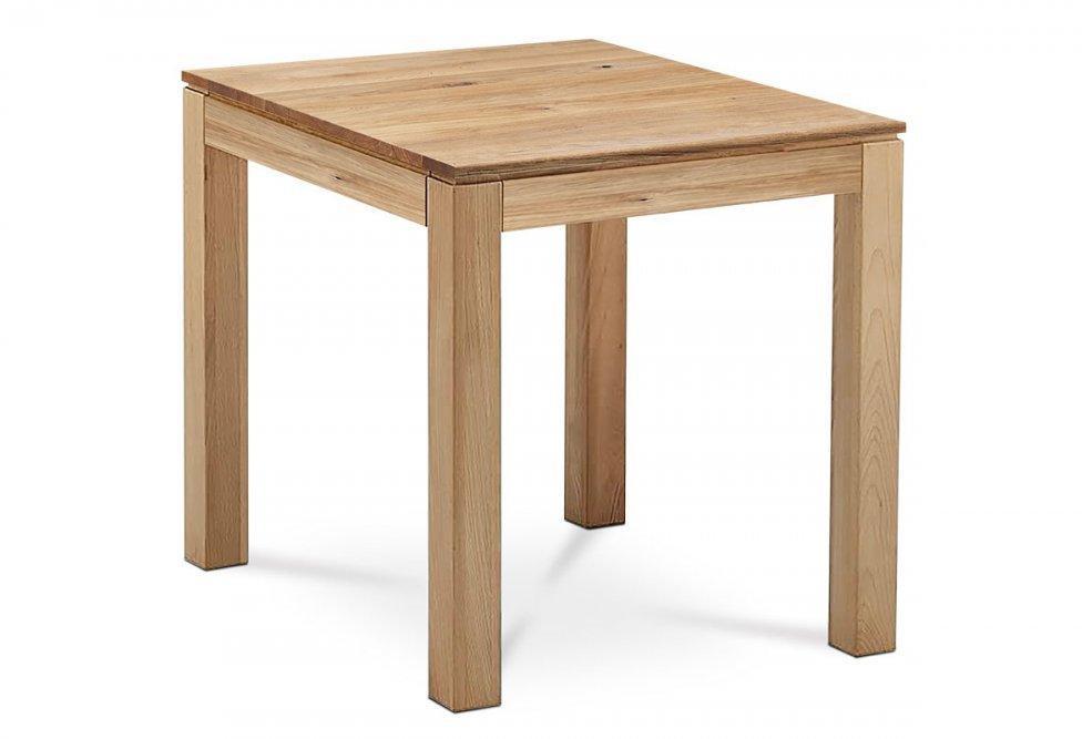 AUTRONIC DS-D080 OAK Jedálenský stôl 80x80x75 cm, masív dub, povrchová úprava olejom, nohy 8x8x cm