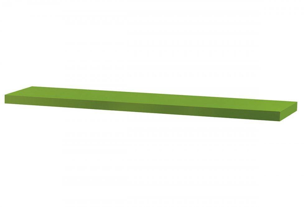 AUTRONIC P-002 GRN polička nástenná 120x24x4cm, zelená