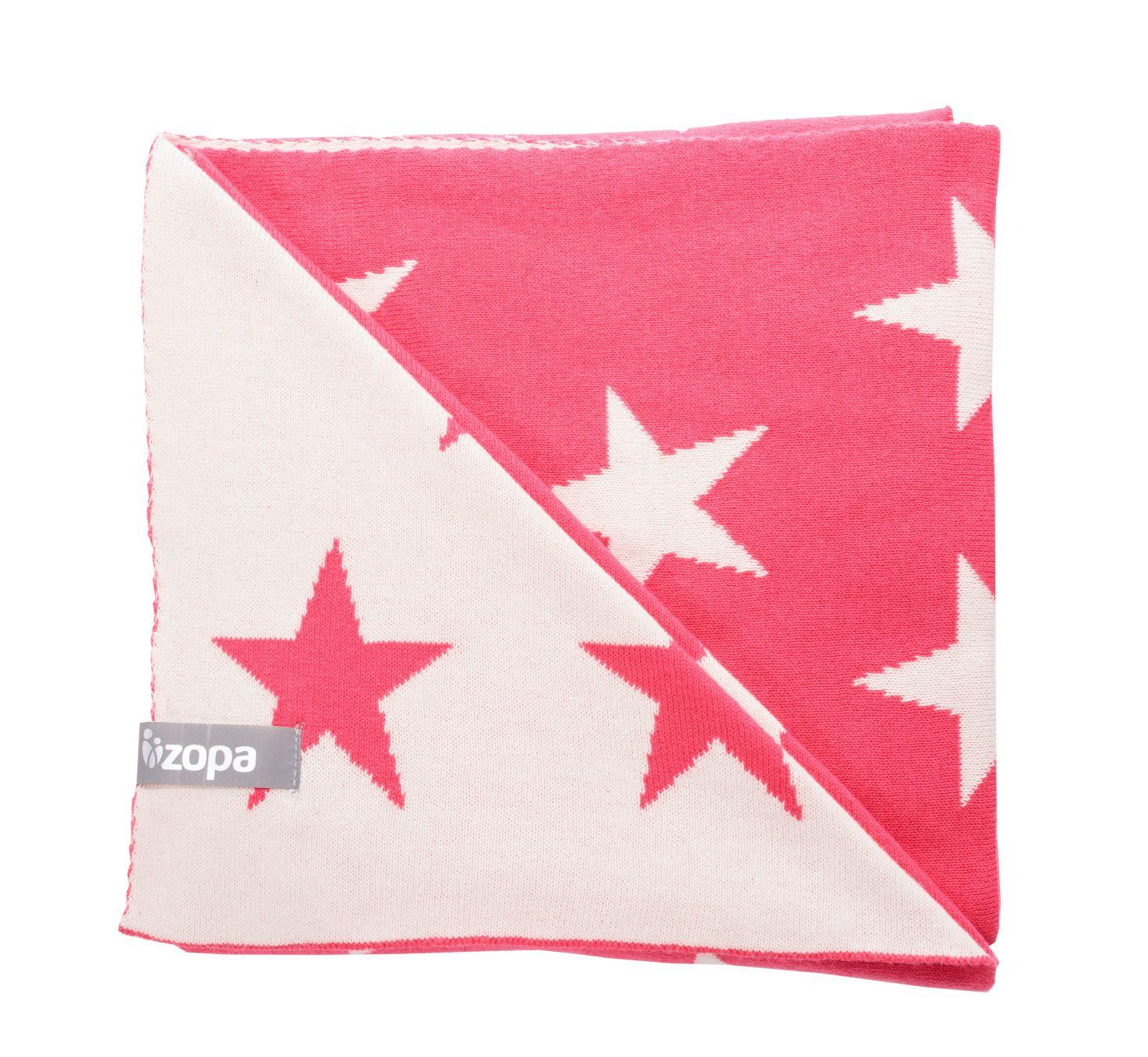 BA Detská bavlnená deka Stars - červená