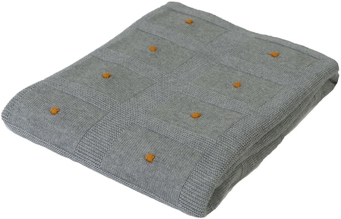 Babymatex Detská deka Accent tmavosivá, 80 x 100 cm