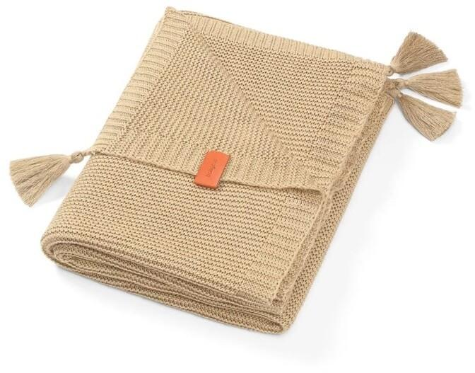 BABYONO - Deka pletená bambusová hnedá
