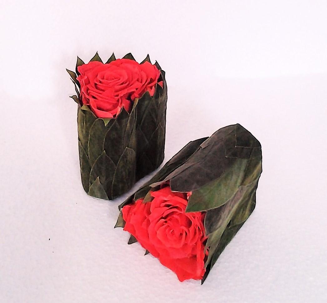 balzamovaná ruža v tvare srdca 9 x 11 cm