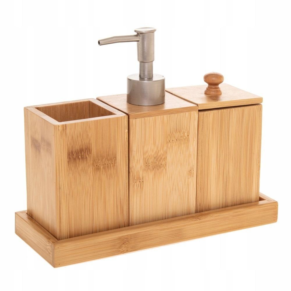 Bambusová sada kúpeľňového príslušenstva 5Five 0913