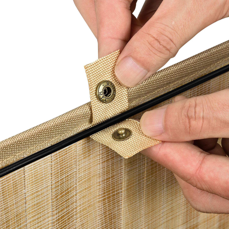Bambusový kôš na prádlo Curly - prírodný