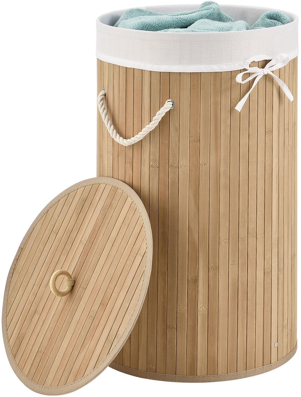 Bambusový kôš na prádlo Curly Round - prírodný