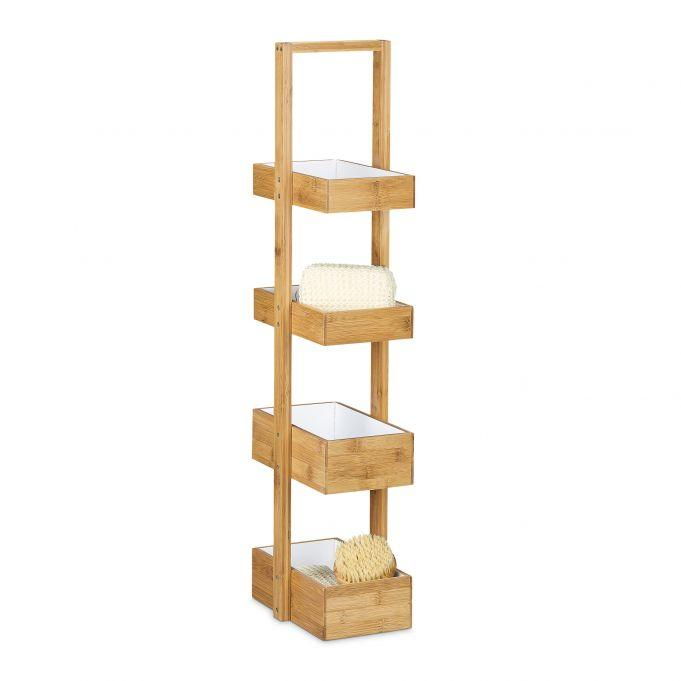 Bambusový regál štvorúrovňový RD0304