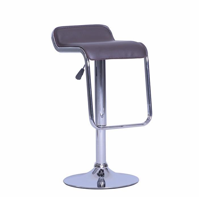 Barová stolička Illaes (hnedá + chróm)