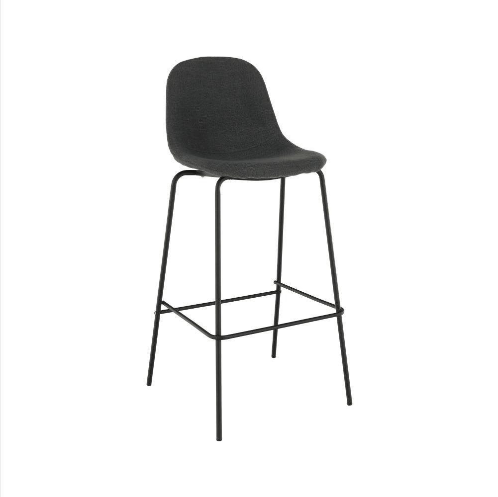Barová stolička, tmavosivá látka/kov, MARIOLA 2 NEW