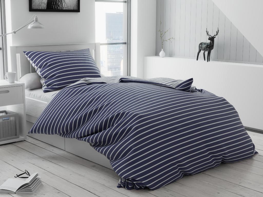 Bavlnené obliečky Caprivi modré gombík Rozměr povlečení: 70x90 cm, 140x200 cm