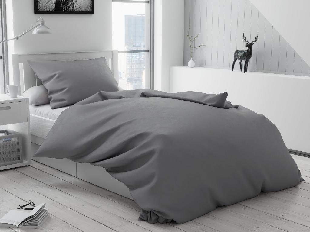Bavlnené obliečky Lux sivé hotelová kapsa