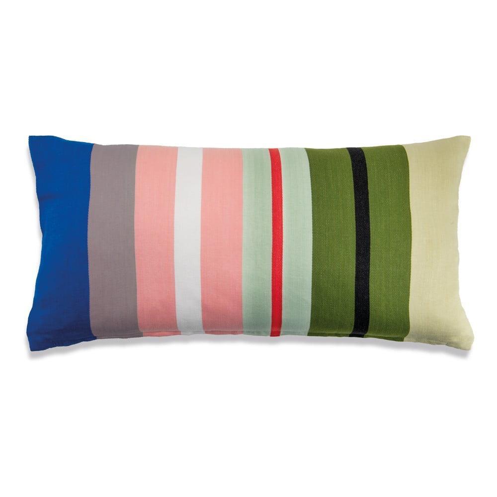 Bavlnený dekorativný vankúš Remember Stripes Nepal, 60 x 30 cm