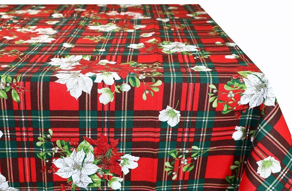 Bavlnený vianočný obrus na stôl MONDY 90x90 cm