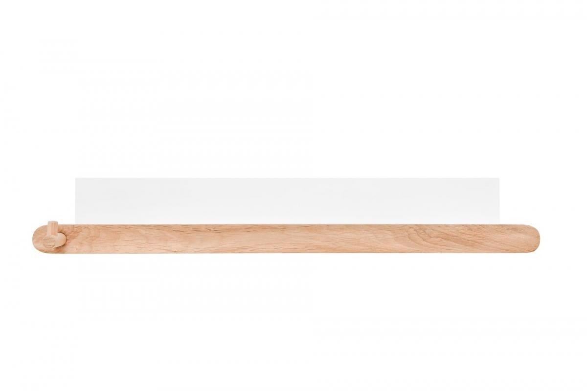 BELLAMY Lotta nástenná polica, biela/drevo