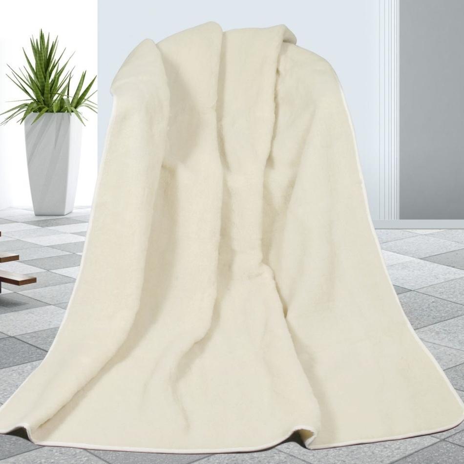 Bellatex Vlnená deka biela, 155 x 200 cm