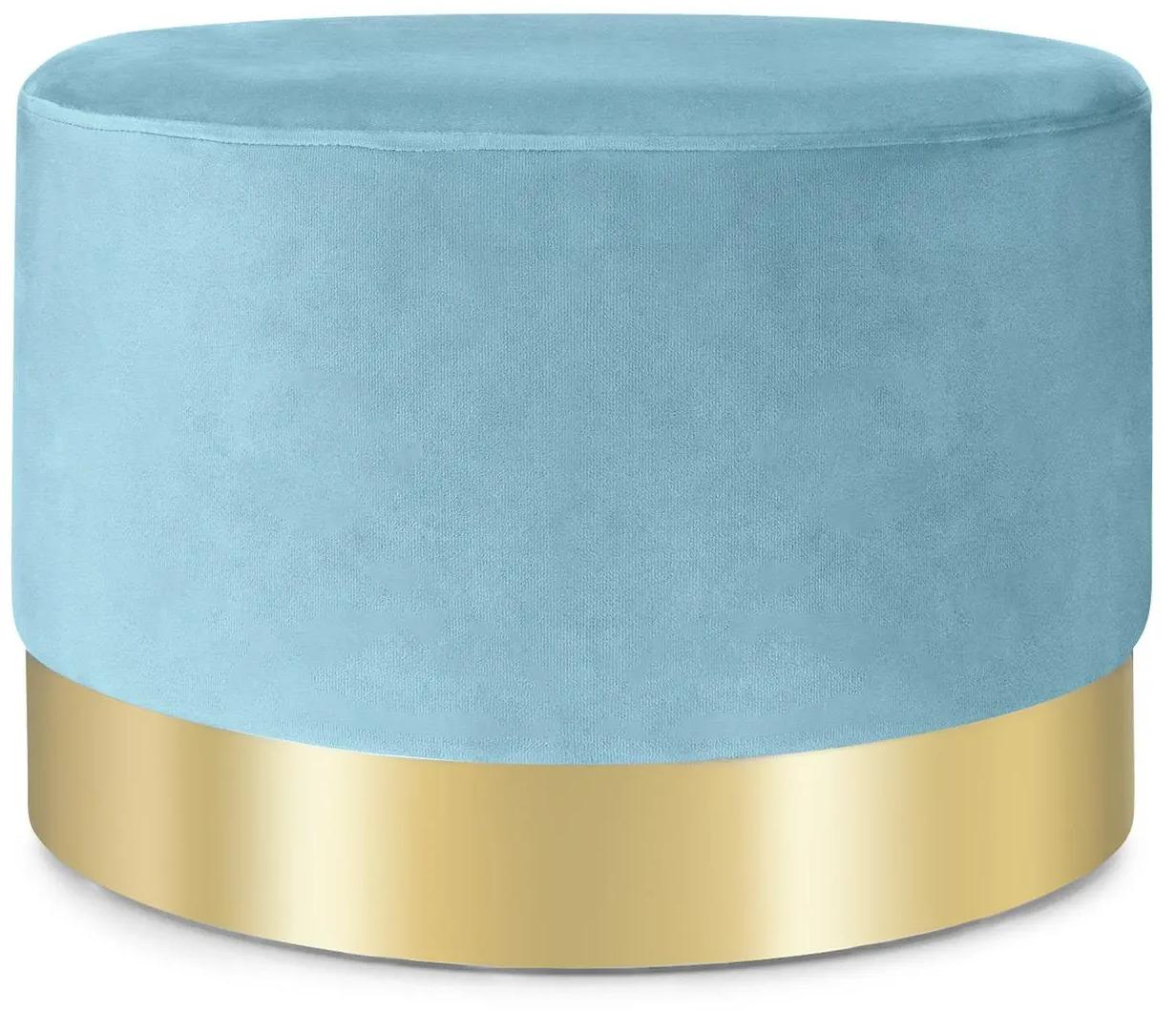 Besoa Bella, taburetka, 35 x 50 cm (V x Ø), zamat, petrolejová