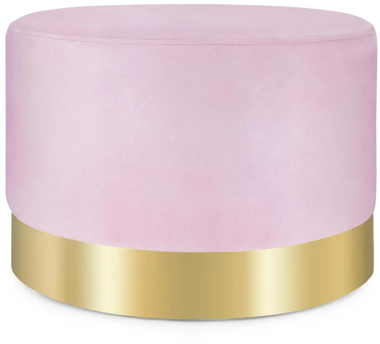 Besoa Bella, taburetka, 35 x 50 cm (V x Ø), zamat, ružová