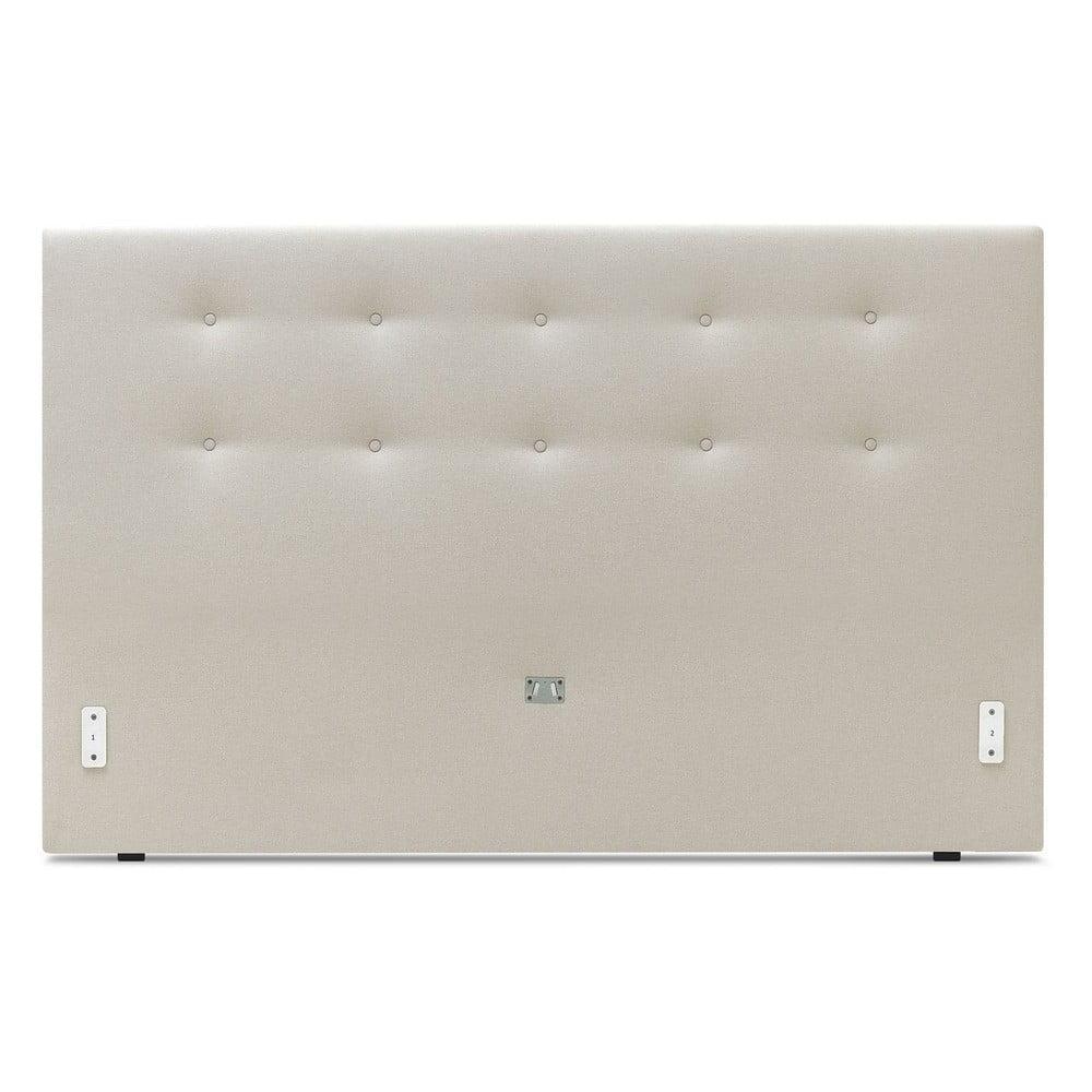 Béžová dvojlôžková posteľ Bobochic Paris Rory Dark, 160 x 200 cm