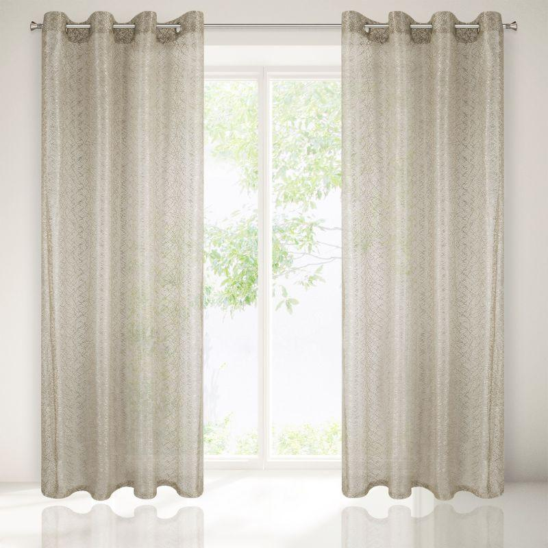 Béžová záclona na krúžkoch AMANDA 140x250 cm