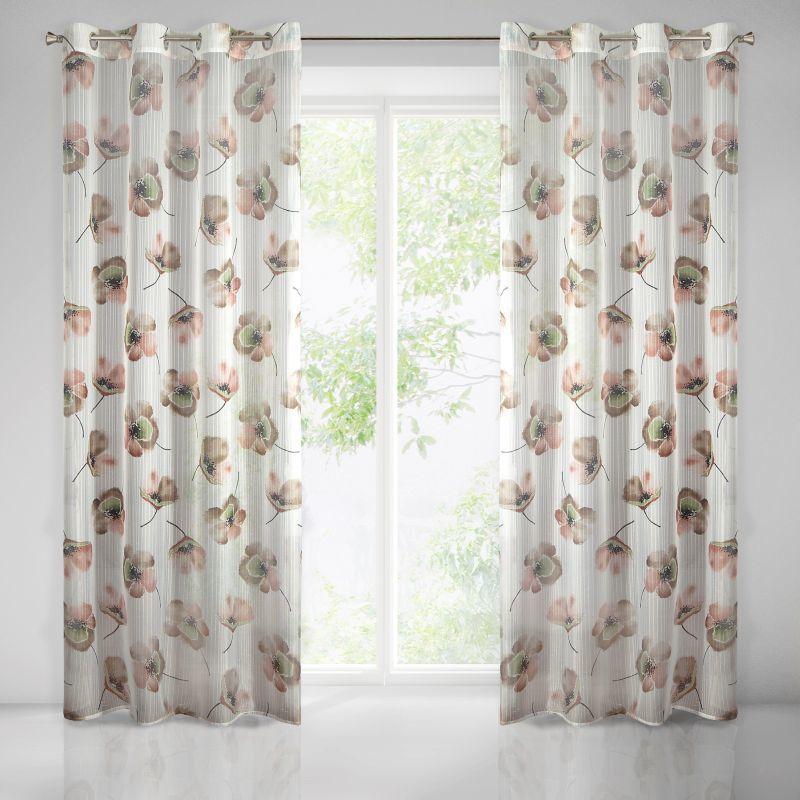 Béžová záclona na krúžkoch NICOLE 140x250 cm