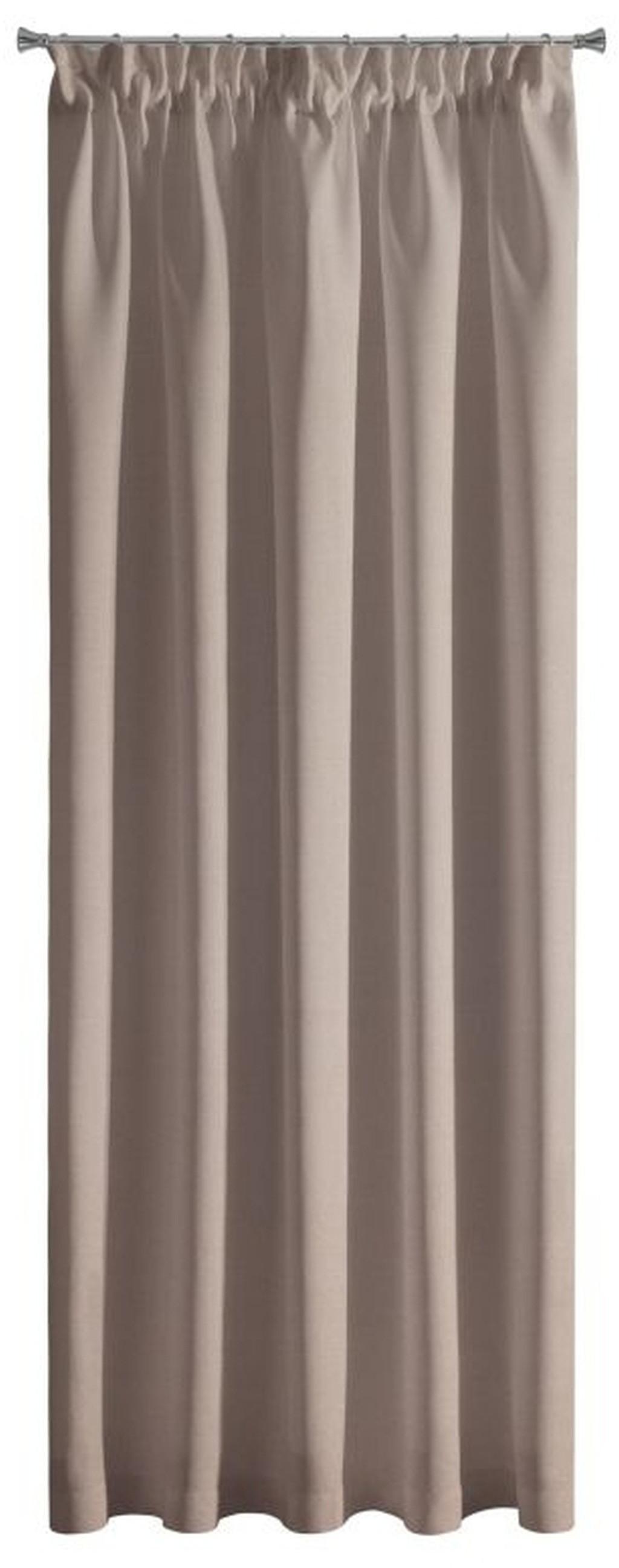 Béžové jednofarebné závesy s riasiacou páskou