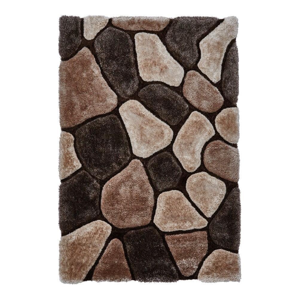 Béžovo-hnedý ručne viazaný koberec Think Rugs Noble House, 120 × 170 cm