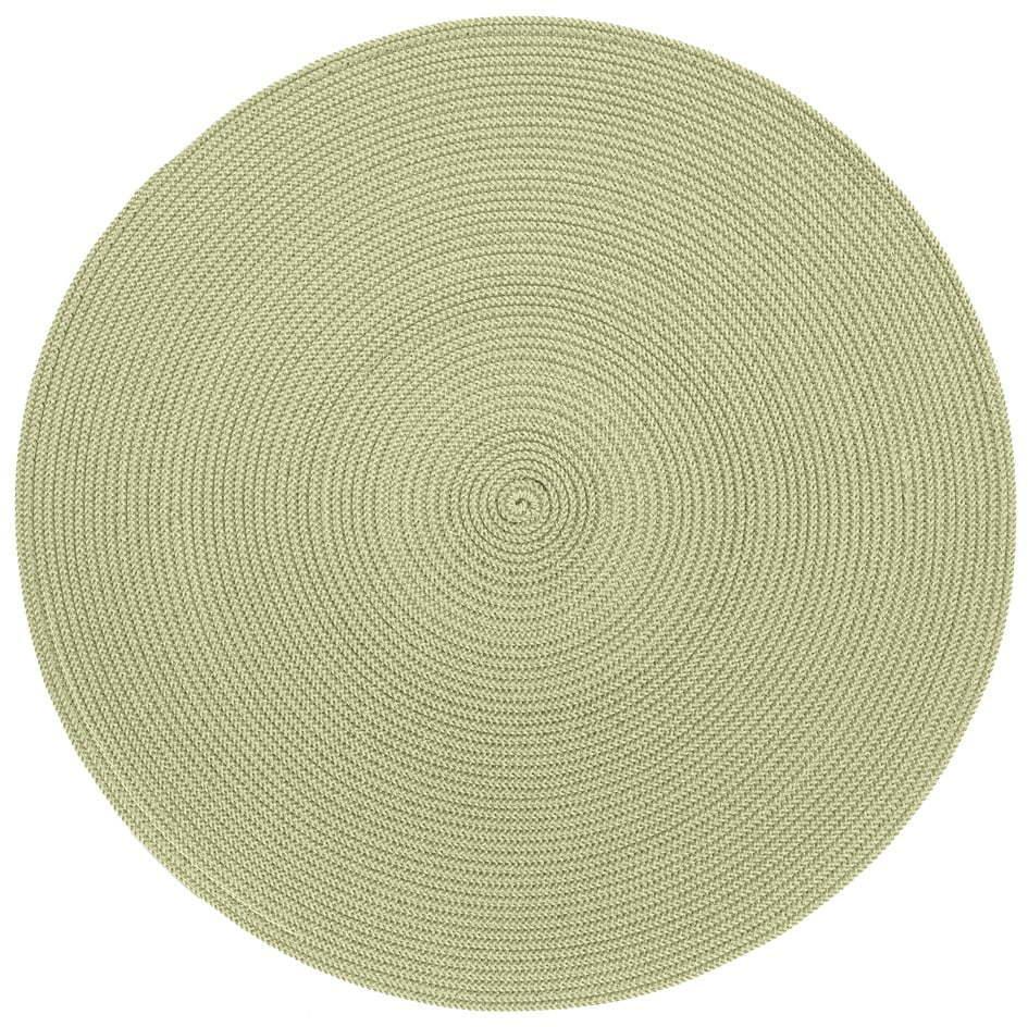 Béžovo-zelené okrúhle prestieranie Zic Zac Round Chambray, ⌀ 38 cm