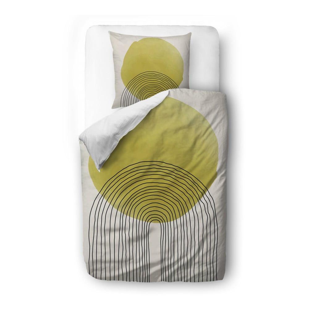 Béžovo-žlté obliečky z bavlneného saténu Butter Kings Rising Sun, 140 x 200 cm